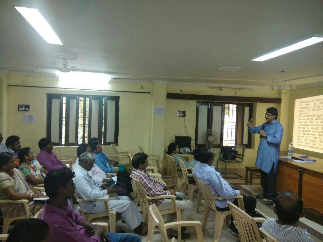 Review Meeting on PESA Act Implementation with all line Department Officials @ ITDA , Rampachodavaram, East Godavari conducted by Dr.P.Trinadharao, SPMO (LTR & PESA).